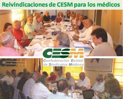 CESM fija las principales reivindicaciones de los médicos para el futuro inmediato