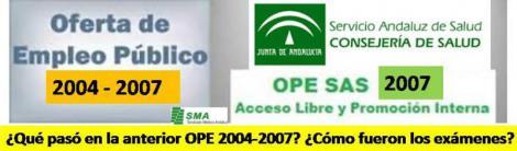 ¿Qué pasó en la anterior OPE 2004-2007? ¿Cómo fueron los exámenes?