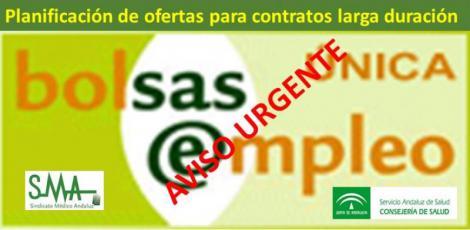 ATENCIÓN: Planificación de las próximas ofertas de larga duración en el SAS.