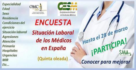 En marcha la 5ª oleada de la Encuesta sobre la Situación de la Profesión Médica en España.