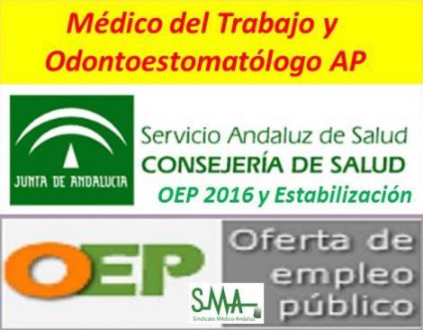Publicadas en el BOJA las resoluciones modificando las convocatorias de OEP 2016 de Médico del Trabajo y Odontoestomatólogo AP.