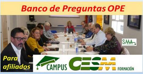 CESM pone a disposición de sus afiliados un banco de exámenes de OPE para su consulta.