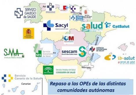 OPEs de estabilización por autonomías: más de 71.000 plazas sanitarias.