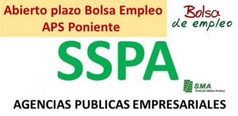 Abierto el plazo para la Bolsa de Empleo de varias especialidades para la APS Poniente.