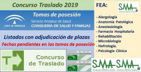 Concurso de Traslados 2019. Publicado en el Boja la resolución definitiva para varias especialidades de FEA.
