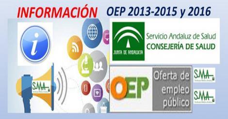 Información sobre OEP 2013-2015 y OEP 2016. Previsiones de listados provisionales.