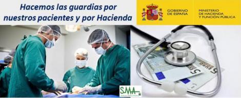 """La """"injusta"""" carga fiscal de las guardias médicas: Hacienda se queda con la mitad del salario."""