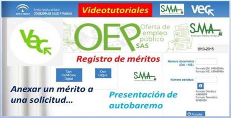 Videotutoriales sobre la VEC, registro de méritos, autobaremo...