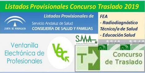 Publicadas en el BOJA resoluciones del Concurso de Traslado 2019 con listados provisionales de FEA Radiodiagnóstico y TS Educación para la Salud.