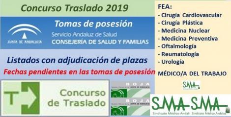 Concurso de Traslados 2019. Publicada en el Boja la resolución definitiva para varias especialidades de FEA y de Médico del Trabajo.