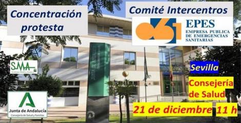 El Comité Intercentros de EPES convoca una concentración de protesta para el lunes 21 de diciembre.