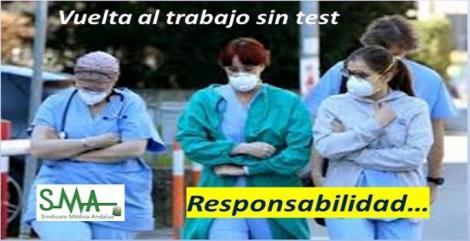 Médicos andaluces afectados por el coronavirus se reincorporan sin pasar un segundo test.