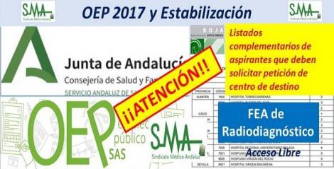 Nuevos nombramientos de la OEP ordinaria y extraordinaria de las plazas no cubiertas, FEA Radiodiagnóstico.