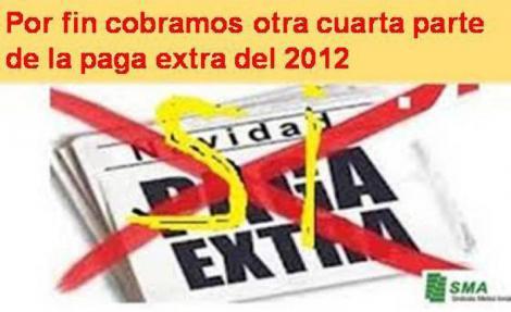 Recuperamos otra cuarta parte de la paga extra de 2012