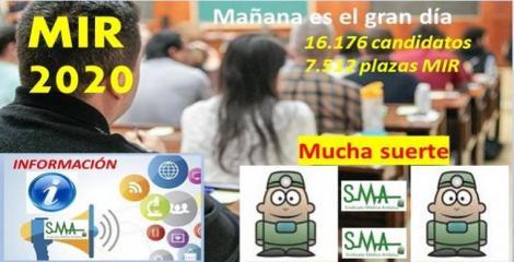 Mañana se celebra el examen MIR 2020. Más de 16.000 aspirantes compiten por 7.512 plazas.
