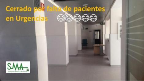 El Sindicato Médico reclama de nuevo abrir una zona rehabilitada y cerrada en el H. Carlos Haya para Urgencias.