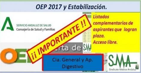 Nuevos nombramientos de la OEP ordinaria y extraordinaria de las plazas no cubiertas.