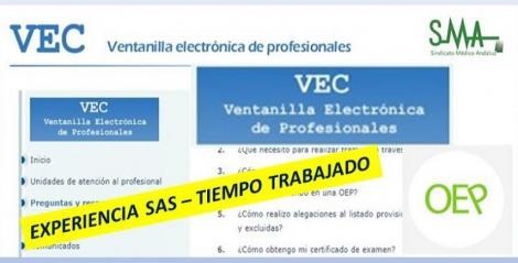OEP 2016-2017-Estabilización. Experiencia SAS de cada profesional en la VEC.