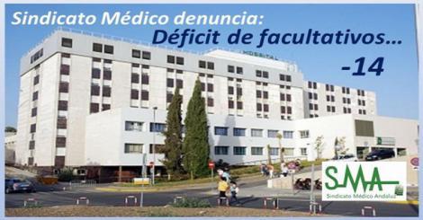 El Sindicato Médico protesta por la falta de 14 facultativos en la plantilla del hospital de Motril.