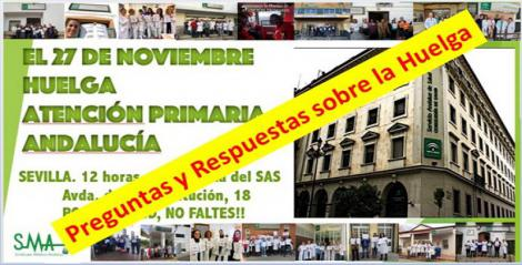 Preguntas y Respuestas sobre la huelga de Atención Primaria del 27 de Noviembre.