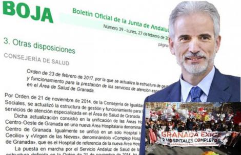 La Junta de Andalucía hace oficial el fin de la fusión hospitalaria en Granada.