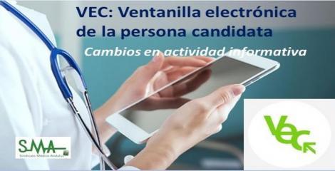 Cambios en la actividad informativa para profesionales sobre el uso de la VEC.