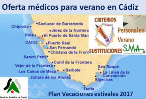 El SAS lanza una convocatoria extraordinaria para contratar a 86 médicos de familia para el verano en Cádiz.