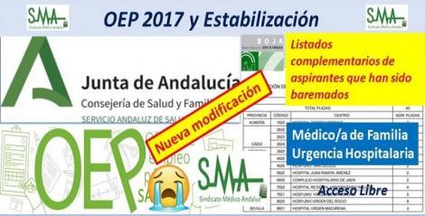 Para nuevos nombramientos de la OEP 2017-Estabilización de las plazas no cubiertas de Médico de Familia en Urgencias Hospitalarias.
