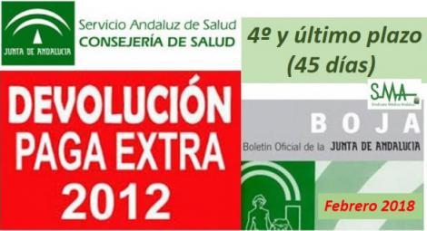 Recuperación de los últimos 45 días de la paga extra de diciembre del 2012.