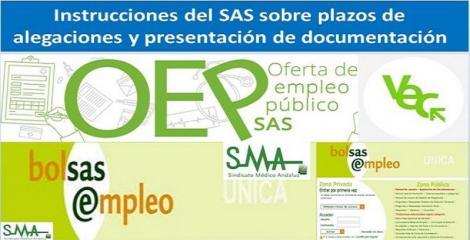Instrucciones del SAS sobre plazos de alegaciones y presentación de documentación en procesos de Selección - Provisión y en Bolsa, con motivo del COVID-19.
