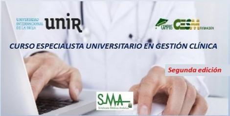 Curso Especialista Universitario en Gestión Clínica organizado por UNIR y CampusCesm. 2ª Edición.