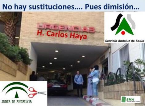 Presenta su dimisión el jefe de Urgencias de Carlos Haya por la falta de contrataciones.
