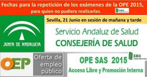 Fijadas las fechas para la repetición de los exámenes de la OPE 2015, para los que no pudieron presentarse.