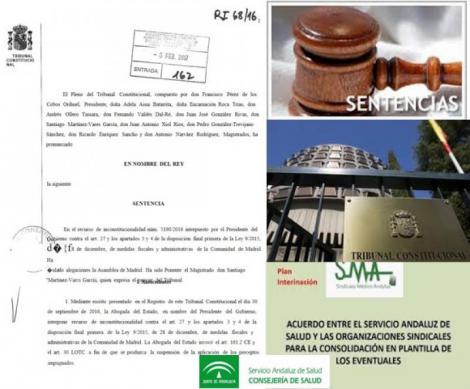 La doctrina del Tribunal Constitucional avala el proceso de interinación acordado por el SAS y el Sindicato Médico.