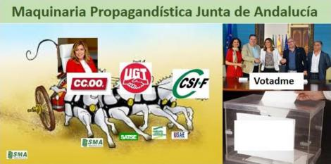 La maquinaria propagandística de la Junta se pone en marcha.