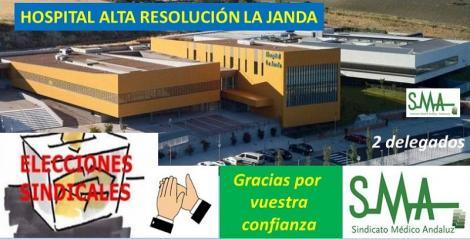 Éxito del SMA en las elecciones del Hospital de Alta Resolución de la Janda.
