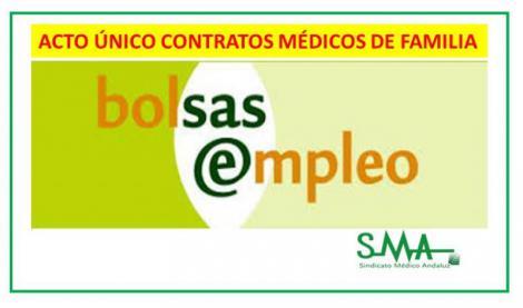 Acto único contratos Médicos de Familia: publicada la resolución con los listados provisionales.