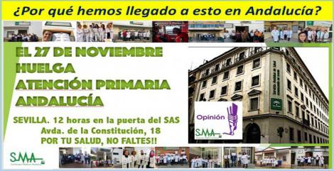 La Atención Primaria en Andalucía se levanta ante la insostenible situación que padece desde hace años.