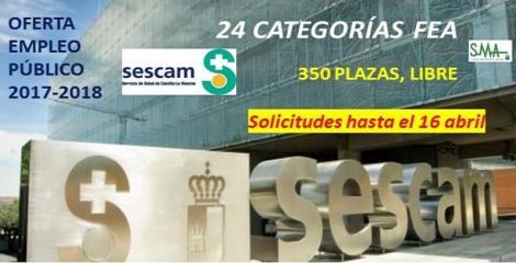 Oferta Empleo Público: Castilla-La Mancha convoca 358 plazas para 24 categorías de facultativos especialistas.