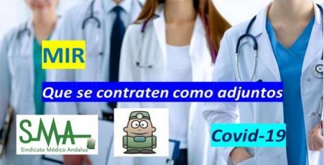 El Sindicato Médico Andaluz exige que la contratación a los MIR que acaban su formación sea como adjuntos.