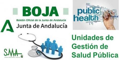 Publicada en el Boja la Orden por la que se desarrolla la composición, funciones y funcionamiento de las Unidades de Gestión de Salud Pública.