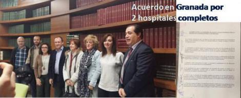 Acuerdo entre Salud y las plataformas por dos hospitales completos.