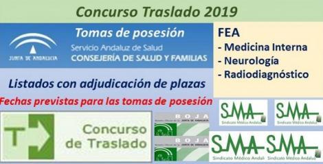 Concurso de Traslados 2019. Publicado en el Boja la resolución definitiva de FEA de Medicina Interna, Neurología y Radiodiagnóstico.