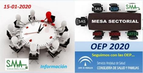 Mesa Sectorial 15-1-2020. Nueva Oferta de Empleo Público para 2020 que se unirá a las del 2018 y 2019.