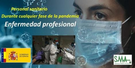 El Gobierno aprueba reconocer el contagio por COVID19 en profesionales sanitarios como enfermedad profesional.