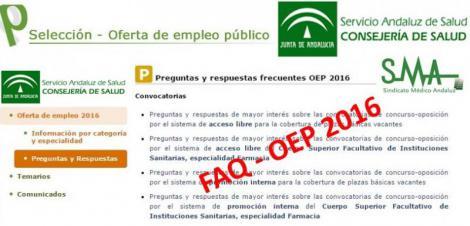 Preguntas y respuestas frecuentes OEP 2016, temarios...
