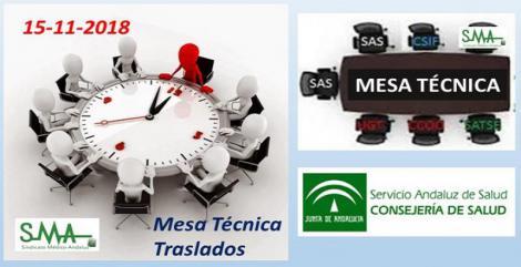 Mesa Técnica de Traslados. 15 Noviembre 2018.
