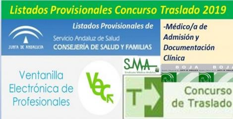 Publicada en el BOJA resolución del Concurso de Traslado 2019 con listados provisionales de Médico/a de Admisión y Documentación Clínica