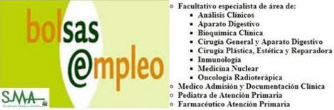 Bolsa. Publicación listas aspirantes admitidos en Bolsa (corte 2016) de Pediatra y Farmacéutico de A. Primaria, Médico de Admisión y varias especialidades de FEA.