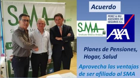 SMA firma un acuerdo de colaboración con AXA seguros a través de la Agencia Perez & Riu.